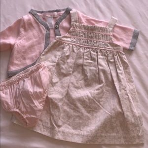 Janie and Jack dress, sweater and diaper cover